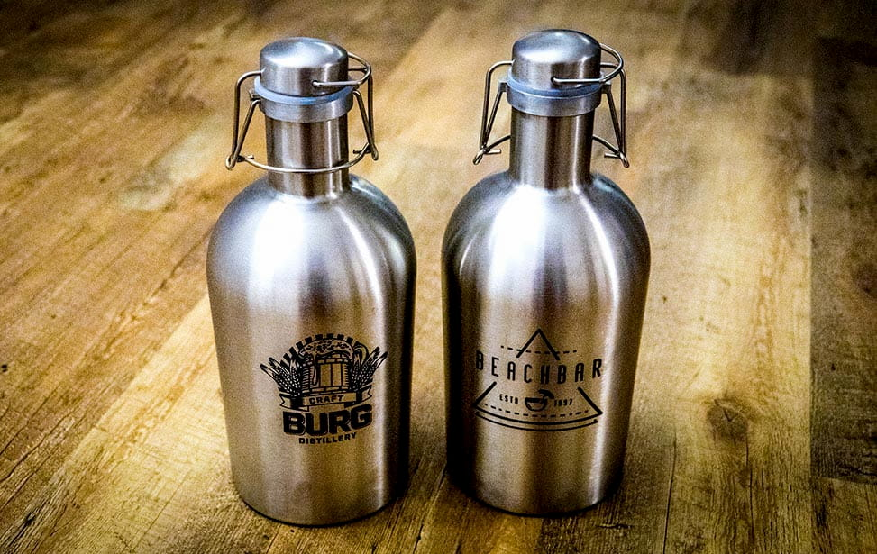 Laser Marked Growlers
