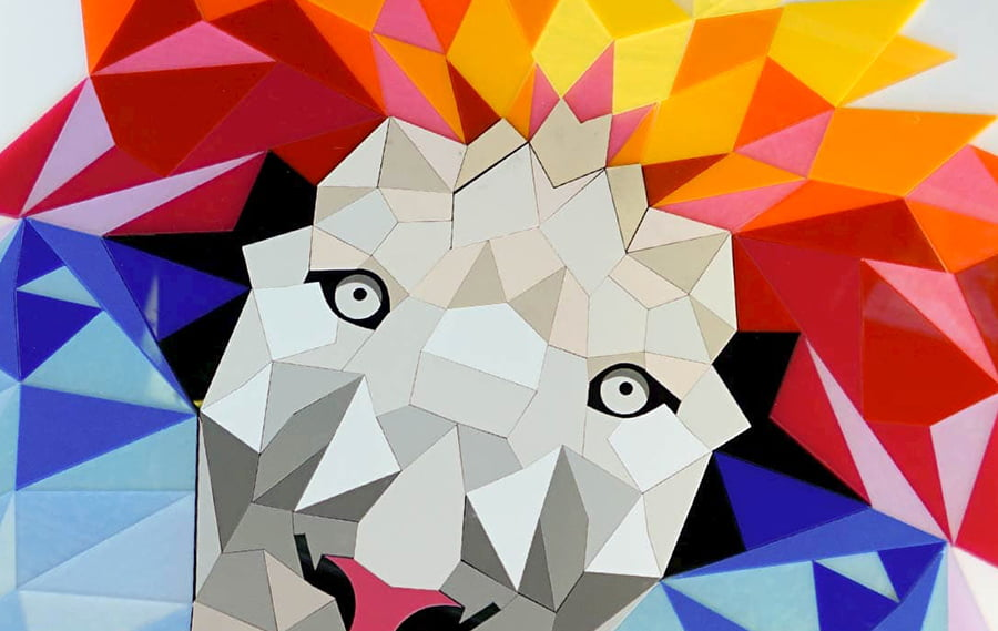 Laser Cut Acrylic Artwork of a Lion