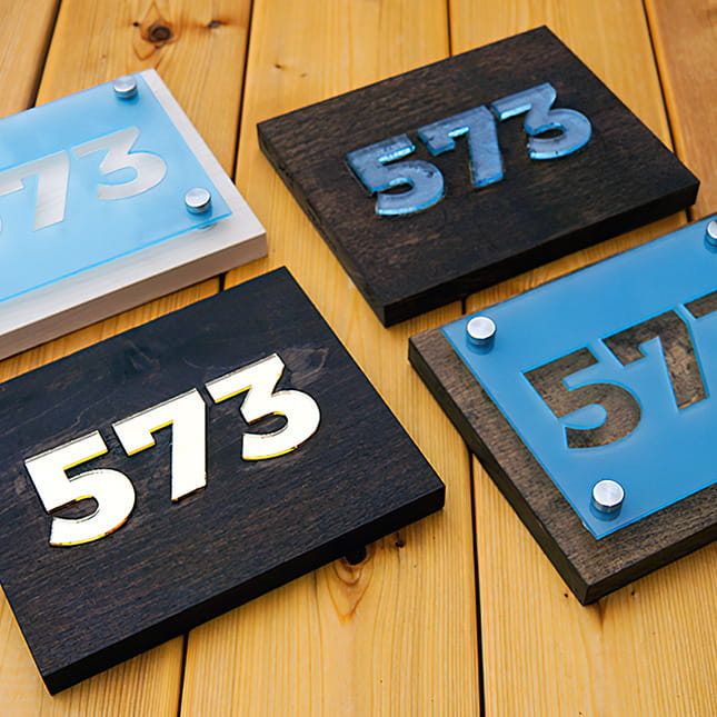 Acrylic Apartment Numbers